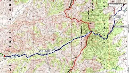 Topo Map of George Creek...