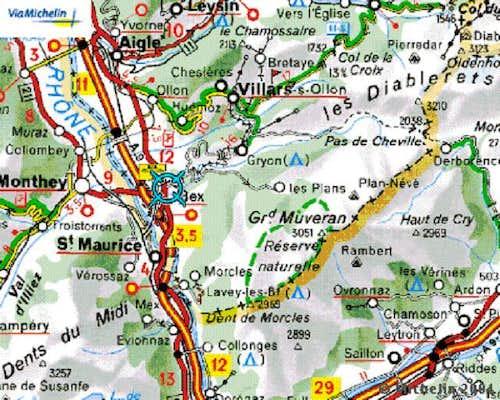 Grand Muveran, location map