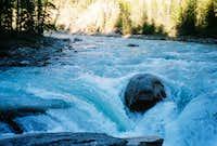 Sunwapta Falls at Dusk