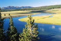 Bend in the Yellowstone River