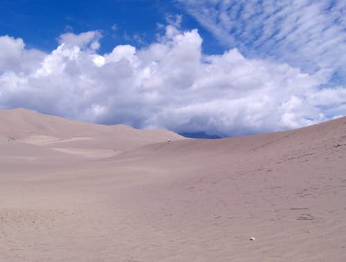 Clouds Above the Sand Dunes
