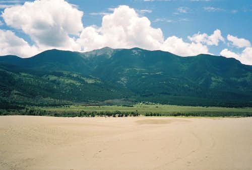 Sangre de Cristo Range and the Sand Dunes