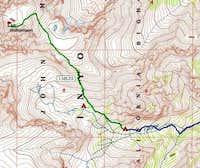Topo Map of Southeast Ridge...
