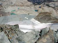 Looking down the glacier from...