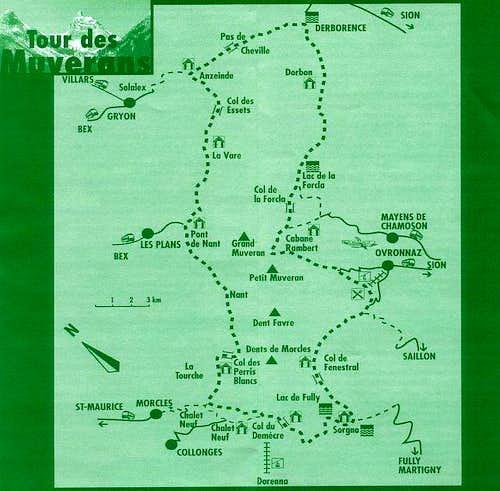 Muveran Tour, map