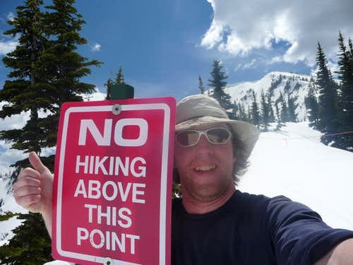 No Hiking Above This Point