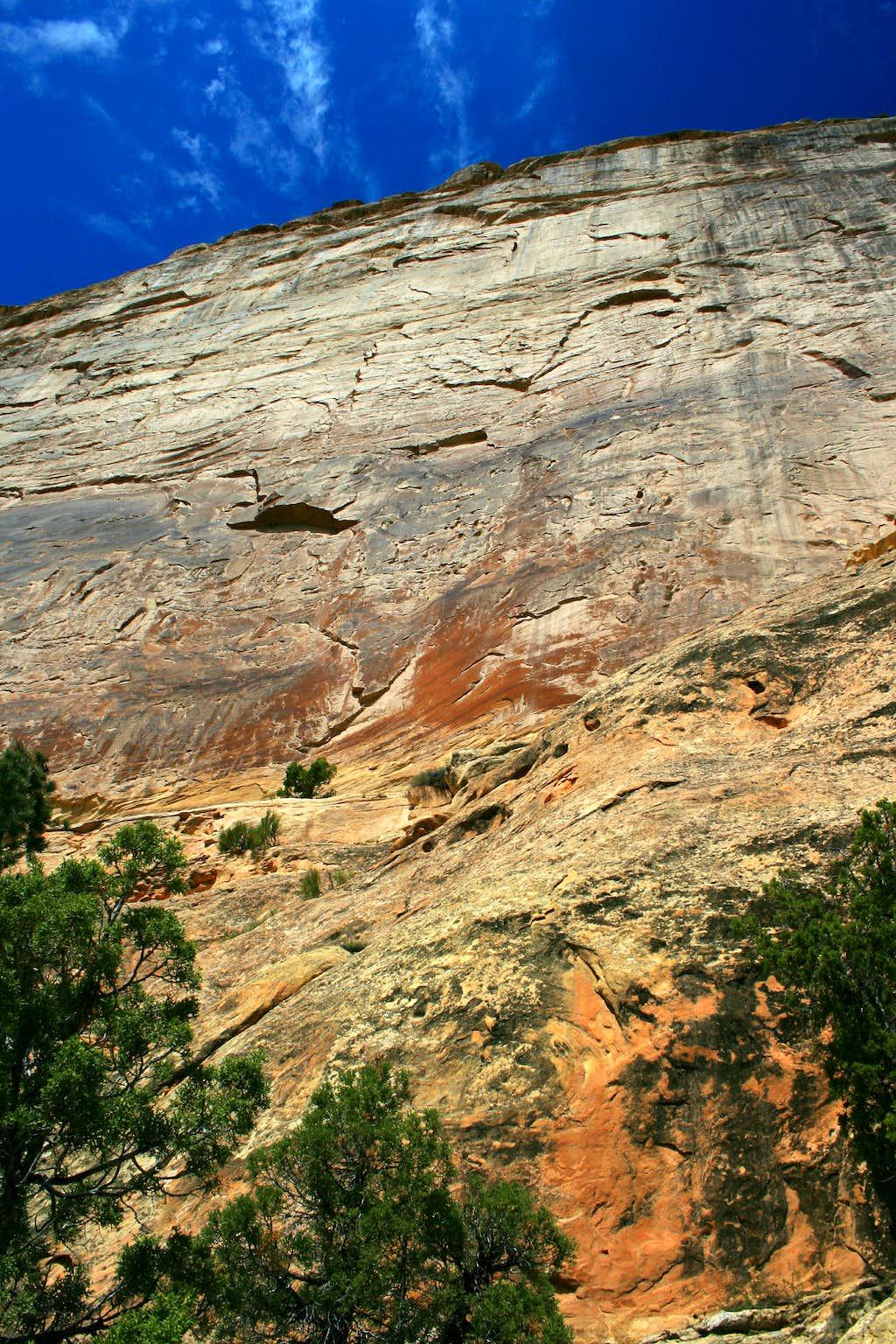 Rock Face above Mitten Park Trail