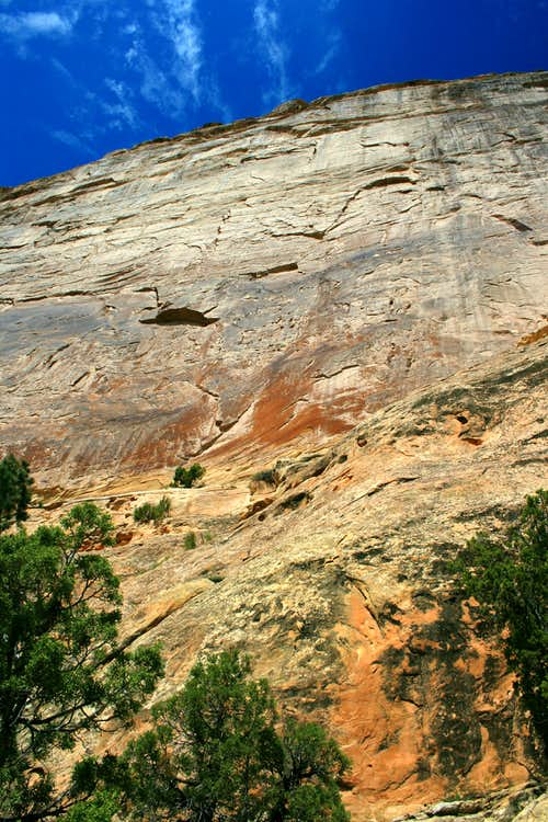 Rock Face above Mitten Park Trail