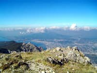The panorama from the summit...