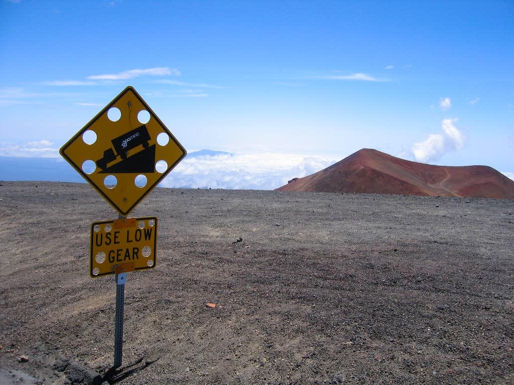 Mauna Kea road sign