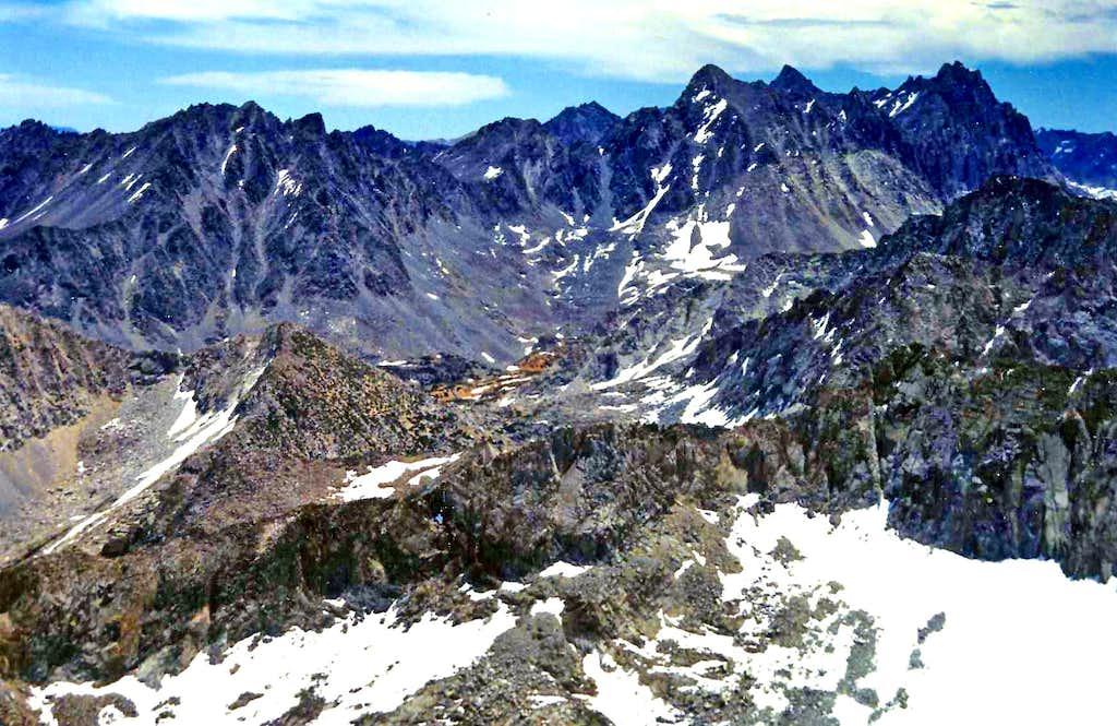 Palisades from Ski Mountaineers Peak