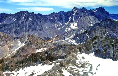 Palisades from Ski Mountaineers Peak