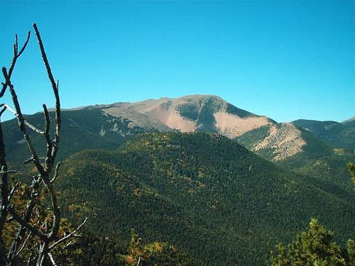 Almagre Mountain from summit...