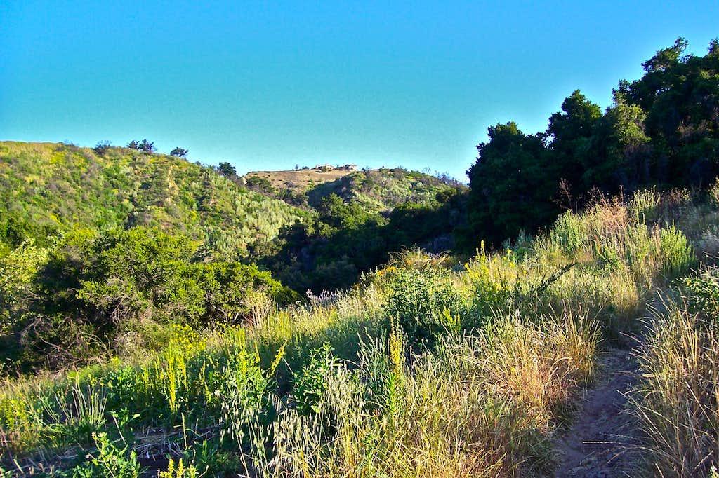 Trail going through Green hillsides