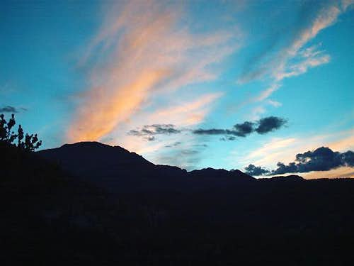 Pikes Peak at sunset. Taken...