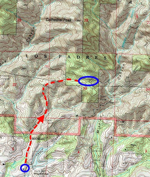 Topo of the route