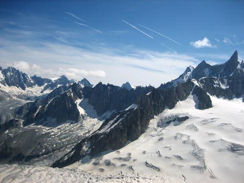 Aiguille de Triolet - Grandes Jorasses - Dent du Géant