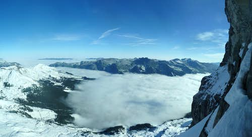 View out of Eiger Nordwand (Panorama)