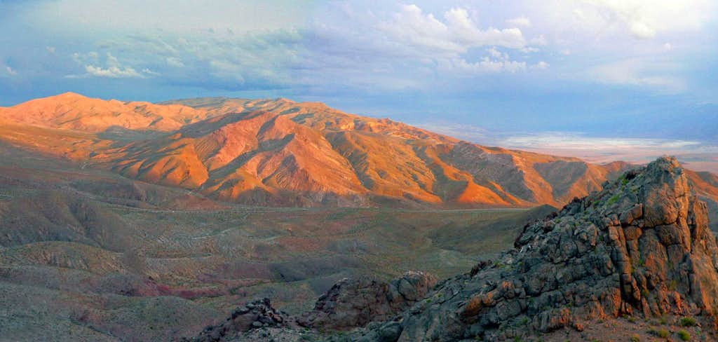 Funeral Mountains at sunset