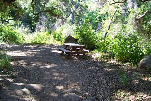 A bench for tired hikers