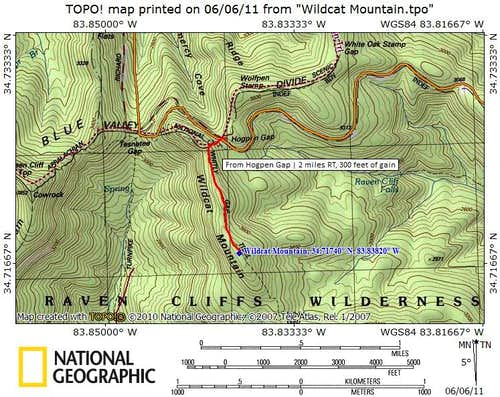 Wildcat Mountain Route Map