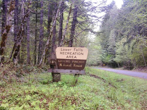 Lower Falls Parking Area Sign