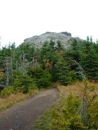 Approaching Cascade's rocky...