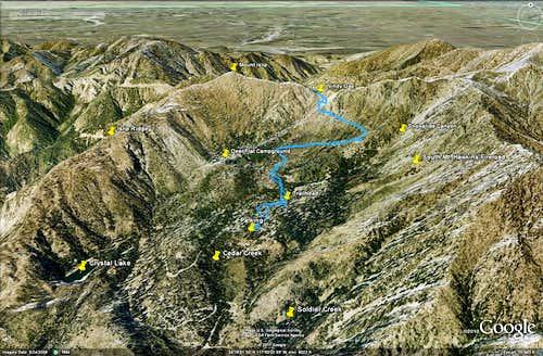 Windy Gap Trail - Google Earth
