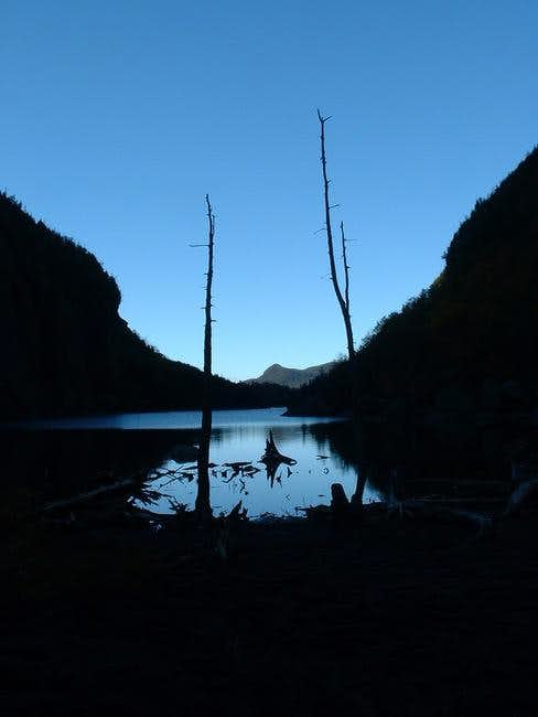 Avalanche Lake in the...