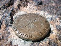 Azimuth Mark on West Twin Sisters Peak