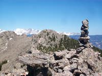 South Sister summit cairn