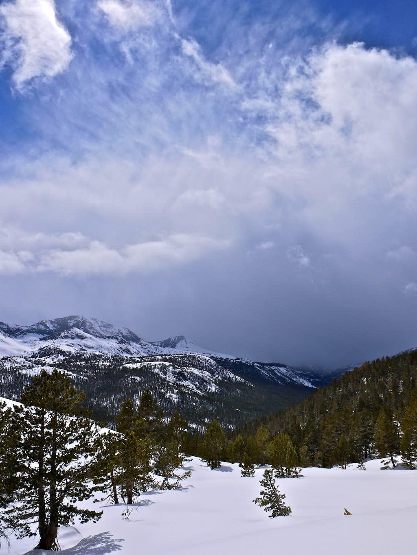 Incoming storm over Evolution Canyon