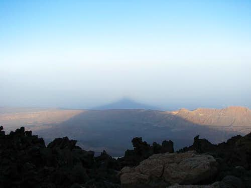 The shadow of Teide
