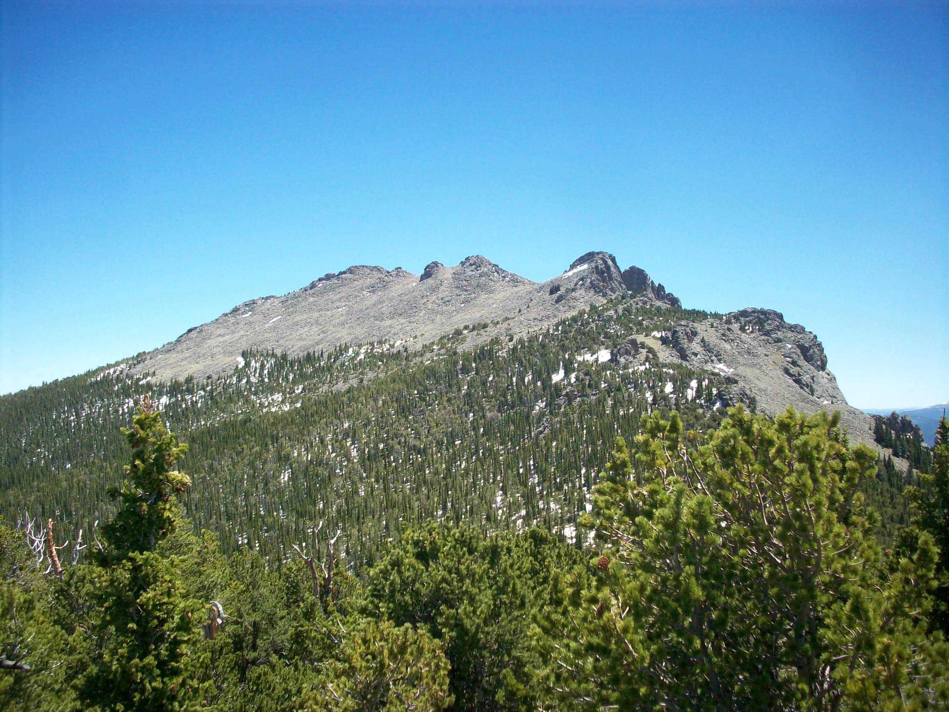 Twin Sisters Peak, South Sister and The Crags