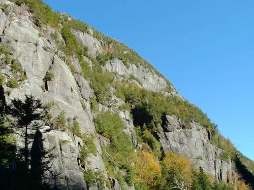 The steep walls of Mount...