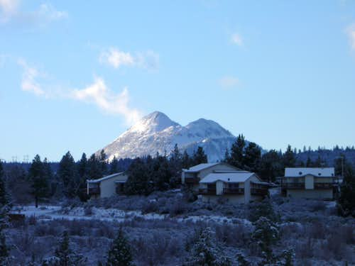 Winter sunrise on Black Butte