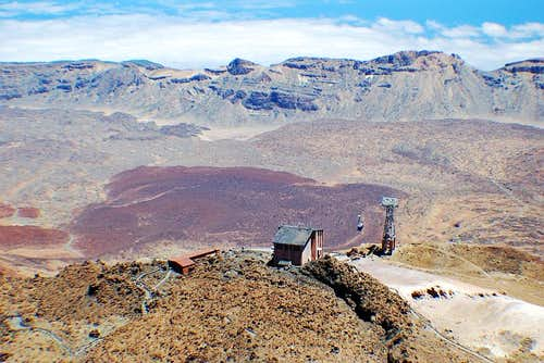 View from Teide summit trail