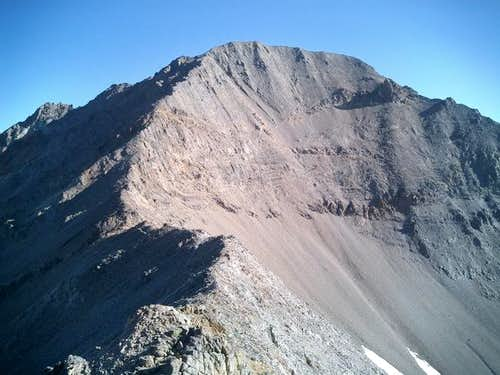 Kent Peak\'s distinct summit...