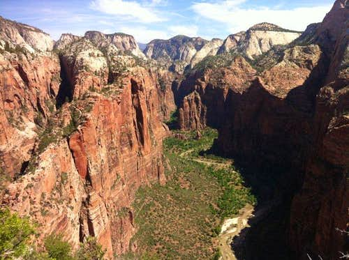 Views to the North from Angels Landing Zion