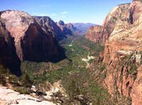 Views to the South from Angels Landing Zion