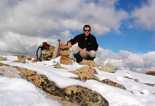 Self-portrait on the summit -...