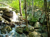 Lewis Falls and climber's trail