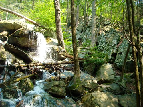 Lewis Falls and climber\'s trail