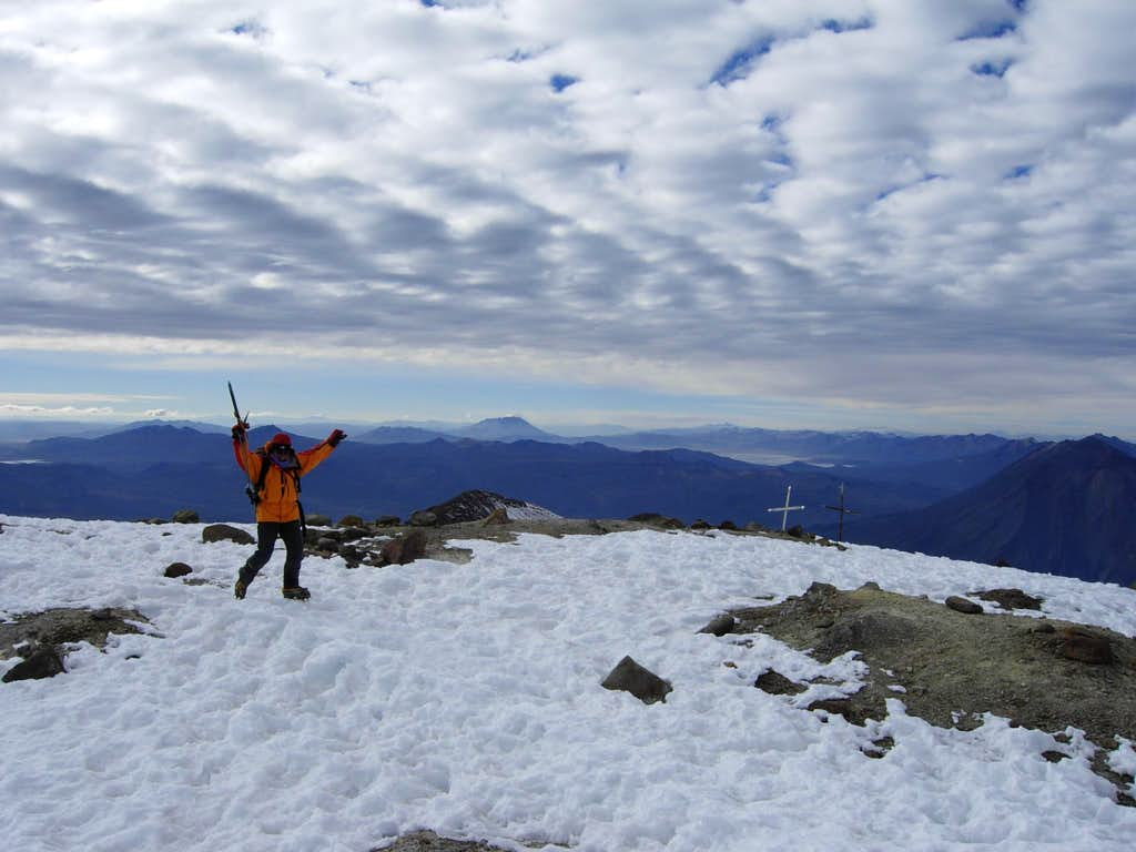 Getting to Nevado Chachani' top