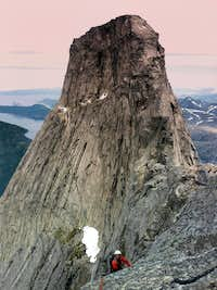 The summit of Stetind from Halls Foretopp
