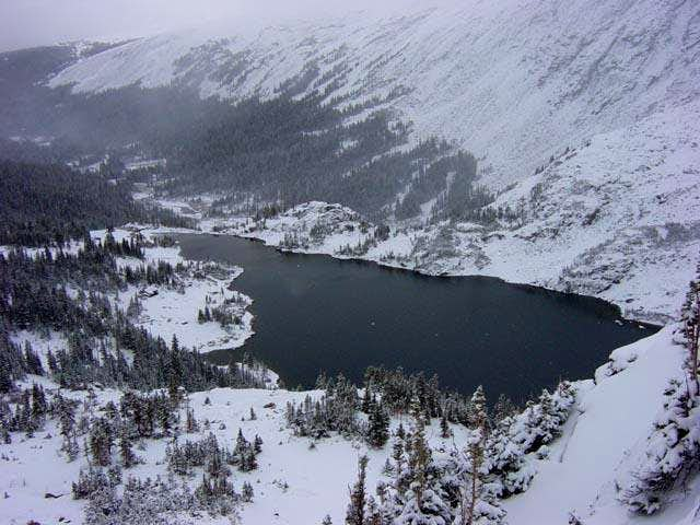 Lake Isabelle from the trail...