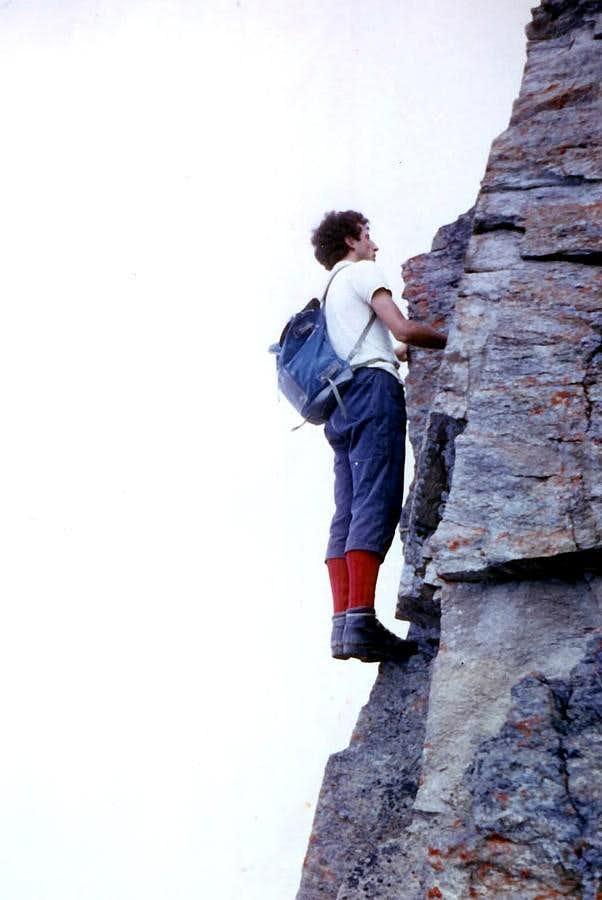 PUNTA della VALLETTA (3090m) SW Ridge in Integral and by total free climb