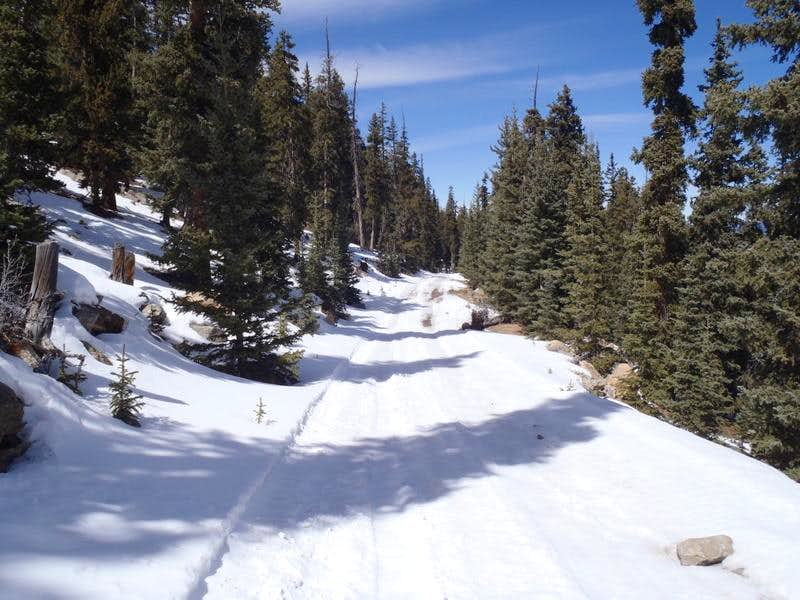 Picture/Photo: Snow-covered road. Crater Lake National Park