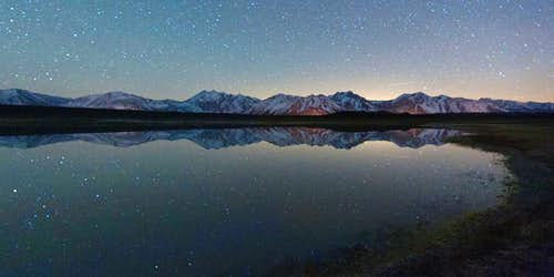 Star Reflections Over the Eastern Sierra