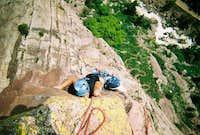 Naked Edge (5.11b R) Eldorado Canyon, CO